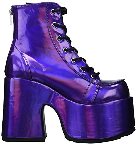 Leather Purple 203 Demonia Vegan Hologram CAMEL w0R1q4a