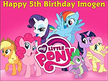 A4 My Little Pony Personalised Edible Icing Birthday Cake Topper