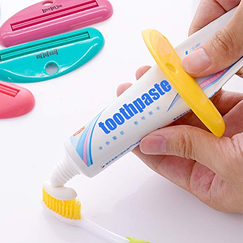 LOVEINUSA Toothpaste Tube Squeezer Dispenser- 4 Pack Random Colors