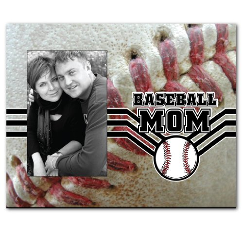 VictoryStore Gift Frame - Baseball Mom Picture Frame - Holds 4X6 Photo