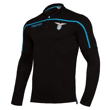 Macron 2018-2019 Lazio Long Sleeve Poly Cotton Polo Football ...