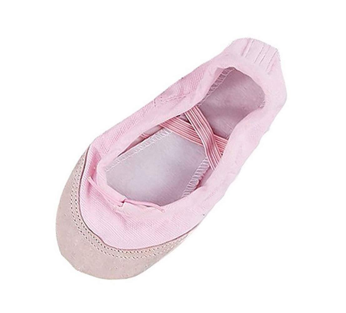 Wetietir Canvas Ballet Dance Soft Bottom Shoes Flats for Girls Kids Pink 28Yards Color : Pink, Size : One Size