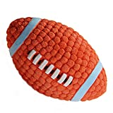 EETOYS Pet Dog Toys Soft Bouncing Latex Ball, Interactive Fetch Throw Balls Sound Training Teeth Toy (Rugby, Large)