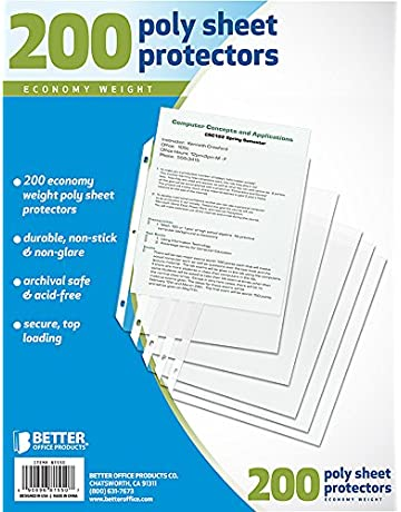 Binder Sheets, Card & Photo Sleeves | Amazon com | Office