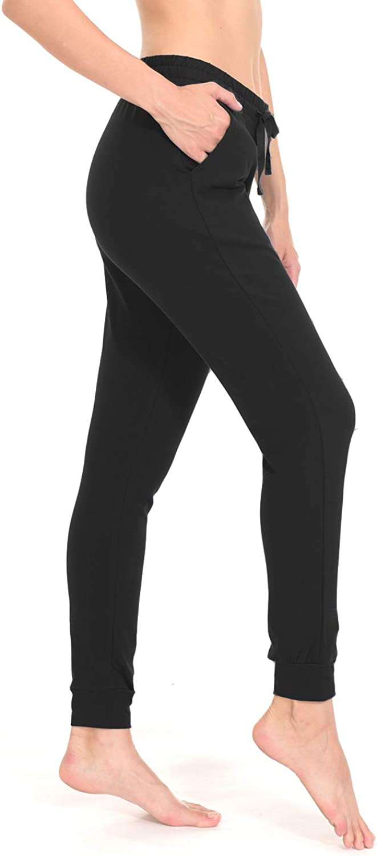 TAIBID Womens Active Jogger Sweatpants Cotton Workout Lounge Pants Track Cuff Sweat Pants Pockets