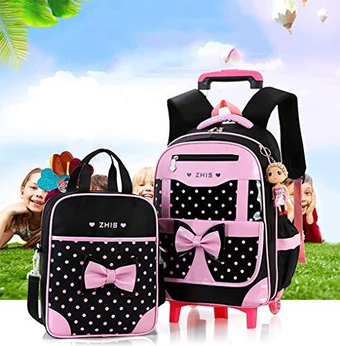Eeayyygch Para Backpack Lonchera Viajes A Trolley Girls Impermeable Rolling 6 color 12 Cute Con Extraíble Tamaño Escolares Do Años 2pcs 8r7Eqr