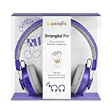LilGadgets Untangled Pro Premium Children's Wireless Bluetooth Headphones with SharePort - Purple