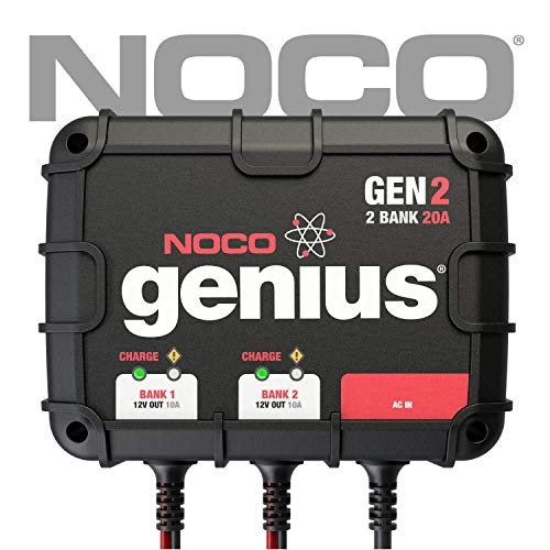NOCO Genius GEN2 20 Amp 2-Bank On-Board Battery Charger (Super Start Marine Deep Cycle Battery Reviews)
