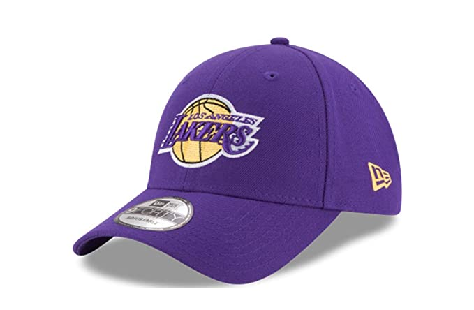 innovative design abfa0 54aa9 Amazon.com   New Era Los Angeles Lakers Purple NBA The League Adjustable  Dad Hat   Clothing