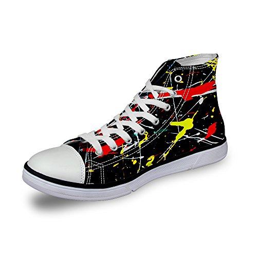 ThiKin スニーカー ブラック メンズ 個性的 3Dプリント カジュアル 靴 シューズ 動物柄 人気 軽量 通気 おしゃれ ファッション 通勤 通学 プレゼント レディーズ