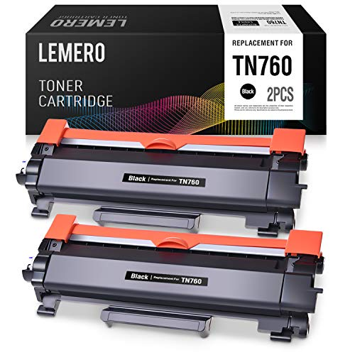 LEMERO with CHIP Compatible for Brother TN730 TN760 Toner Cartridge - Replacement for HL-L2350DW HL-L2395DW DCP-L2550DW MFC-L2710DW MFC-L2750DW, 2 Pack (Printer Not Showing Up In Devices And Printers)