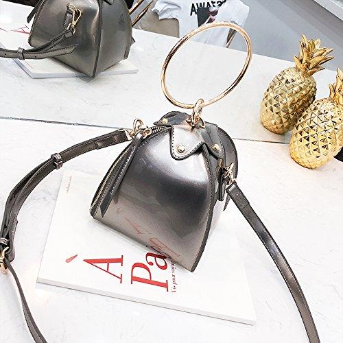 CJshop nueva bolsa pequeña niña nueva versión coreana de la versión gratuita del bolso bolso estilo fashion,color champagne Color champán