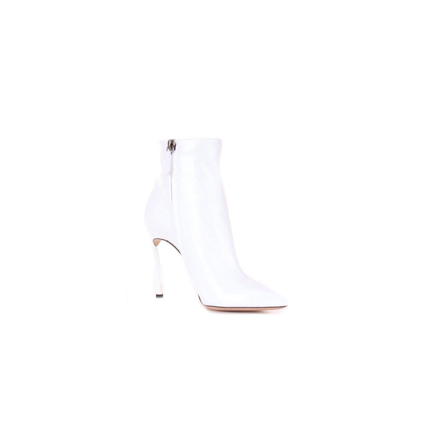 - Casadei Women's 1Q618L100TRAIWHITE White Leather Ankle Boots