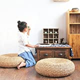 Dark colored banana leaf rustic poof/gift for moms/Floor cushion/Pouf ottoman/Wholesales bulk/Yoga/meditation cushion