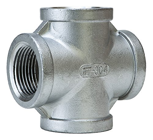 Plumbing Cross Connection (Trenton Pipe SS304-63602 Pipe Fitting, Class 150, Cast Stainless Steel Grade 304, Cross, 1/4