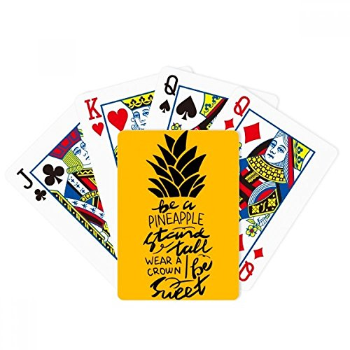 beatChong Be a Sweet Pineapple Yellow Quote Poker Playing Card Tabletop Board Game Gift by beatChong