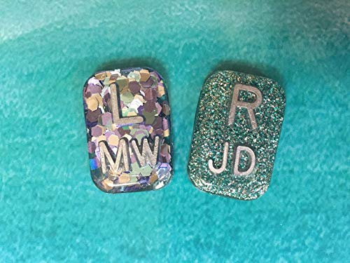 (Rectangle Glitter Xray Markers, With Initials)