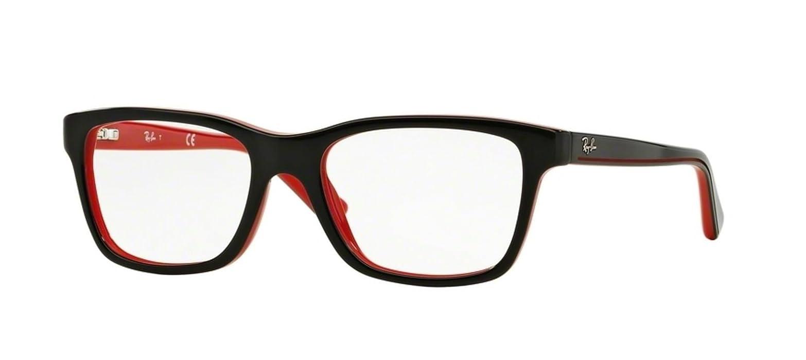 9c99c62614 RAY BAN R Y1536 Eyeglasses 3573 Top Black On Red 46-16-125  Amazon ...
