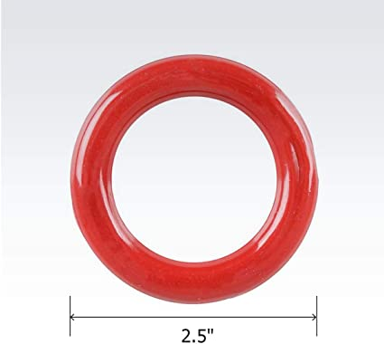 Prize Kicko Plastic Carnival Rings for Stress Relief Toy Red 24 Pack Cool Game 2.5 Inch