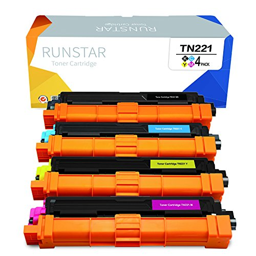 Run Star Replacement for Brother TN221 TN225 Toner Cartridge Use with Brother HL-3140CW, HL-3150CDN, HL-3170CDW, MFC-9130CW, MFC-9330CDW, MFC-9340CDW Printer-4 ()