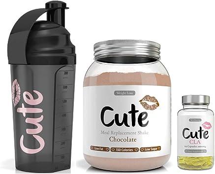 Cute Nutrition Batido de Reemplazo de Comidas de Chocolate con ...