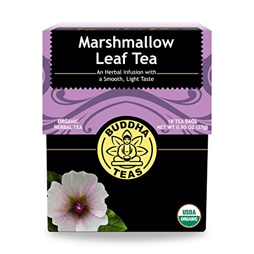 Organic Marshmallow Tea - Kosher, Caffeine Free, GMO-Free - 18 Bleach Free Tea Bags Marshmallow Root Tea