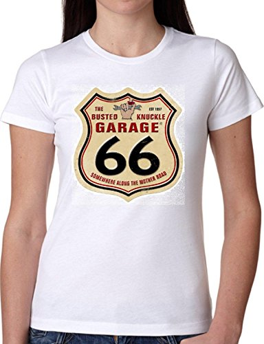 T SHIRT JODE GIRL GGG22 Z1245 GARAGE 66 VINTAGE STREET AMERICA FUNNY FASHION COOL BIANCA - WHITE M