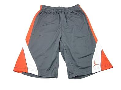 314bb5a4c7b Boys Nike Air Jordan Mesh Athletic Basketball Shorts (Medium,  Grey/Orange/White
