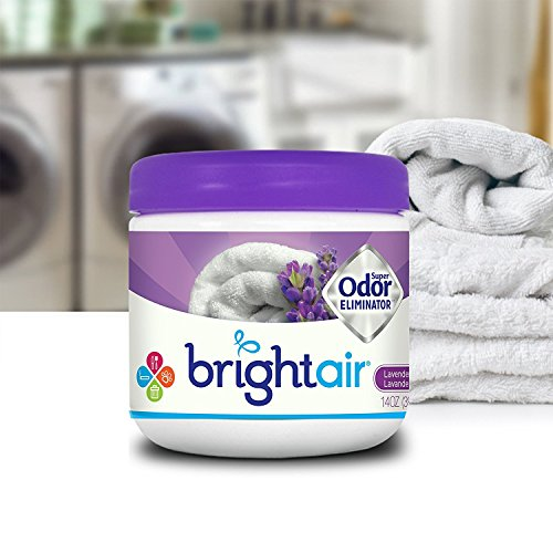 Bright Air Solid Air Freshener and Odor Eliminator, Lavender and Linen Scent, 14 Ounces, 6 Pack by Bright Air (Image #2)