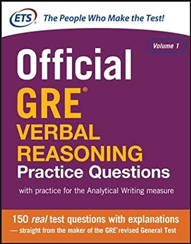 Official GRE Verbal Reasoning Practice Questions (Test Prep) (Gre Quantitative Practice)