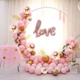 """Balloon Arch Kit - 117PCS 16Ft Latex Balloon Garland Kit with 12"""" 10"""" Rose Gold Balloons Pink Balloons Confetti Balloons and Metallic Balloons for Parties Baby Shower Birthday Bachelorette Party Backdrop Background Decoration"""