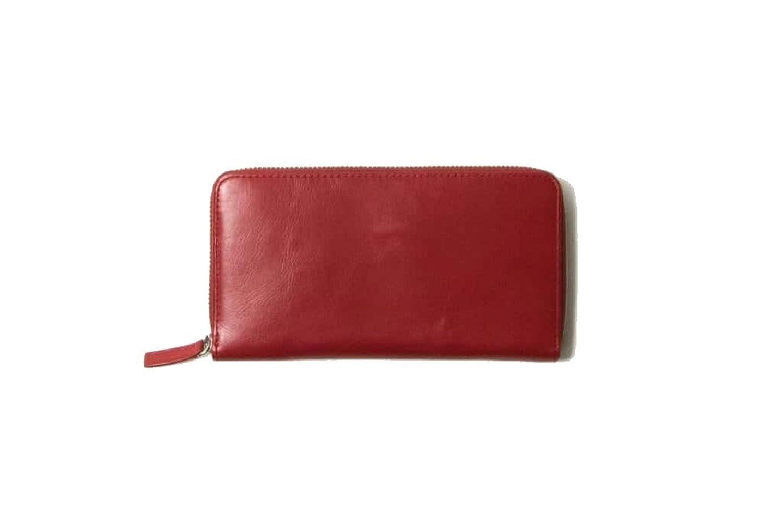 【本革】 長財布 (ラウンドファスナー) レディース (ロイヤルレッド) Business Leather Factory B00Y7KV4FY