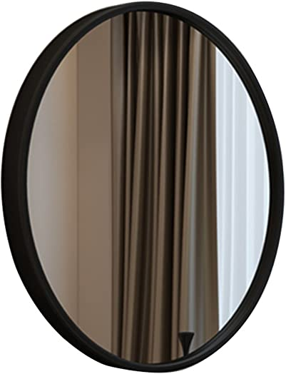 Makeup Mirror Creative Round Makeup Mirror Dressing Table Round Mirror Bedroom Mirror Bathroom Mirror Wall Mounted Round Mirror Color Black, Size Diameter 70cm 27 inches