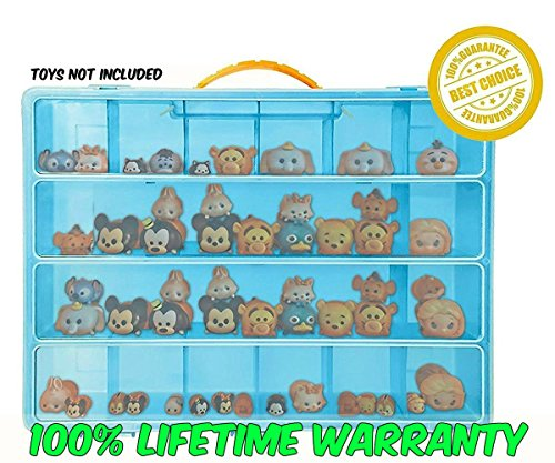 Easy Tv Show Character Costumes - Tsum Tsum Mini Toys Carrying Case - Stores Dozens Of Tsum Tsum Mini Figure And Toys - Durable Toy Storage Organizers By Life Made Better - Blue
