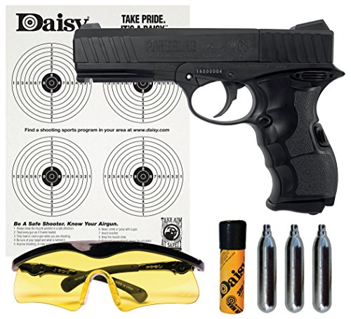 Daisy PowerLine 408 8-Shot BB or Pellet C02 Semi-Automatic Pistol (Rifled Barrel Kit)