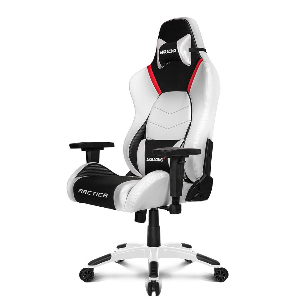 AKRacing Masters Series Premium Gaming Chair with High Backrest, Recliner, Swivel, Tilt, 4D Armrests, Rocker and Seat Height Adjustment Mechanisms with 5 10 Warranty – Arctica