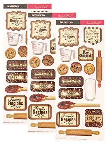 Creative Imaginations Cooking Recipe Scrapbooking Stickers