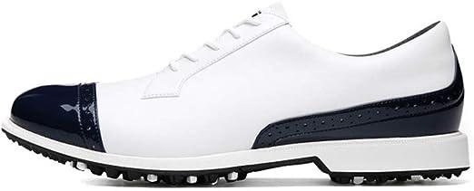 FJJLOVE Zapatos De Golf De Los Hombres, Transpirable Spikeless ...