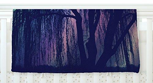 KESS InHouse Robin Dickinson Weeping Purple Tree Fleece Baby Blanket 40 x 30 [並行輸入品]   B077ZP9FC4