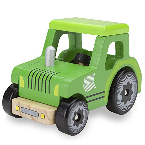 (Wooden Wheels Natural Beech Wood Tractor by Imagination Generation)