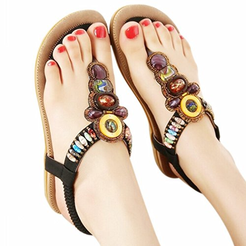 Women's Sandals Bohemia Gladiator Sandal Women Shoes Flip Flops Sandalias Mujer Ladies Shoe Fashion Female Footwear - Ladies Wedge Sandal