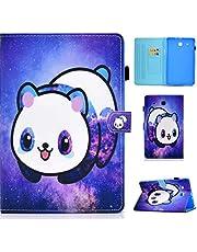 MUTOUREN Funda Compatible con Samsung Galaxy Tab E 9.6 (SM-T560 / T561 / T565 / T567), Ultra Slim Protectora Cover con Soporte para lápiz/Anti- Arañazos/Duradero-Panda