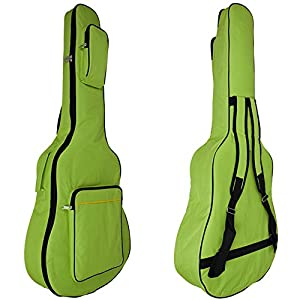 MINGZE 41 Zoll Gitarrentasche,Gitarren Gig Taschen,Plus Baumwolle dicke wasserdichte verstellbare Schultergurt Gitarre…