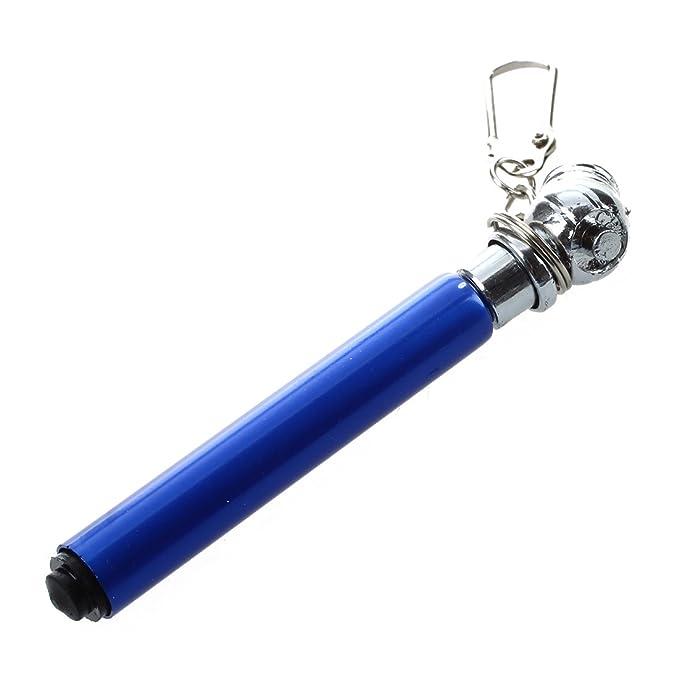 SODIAL(R) Calibrador de presion de aire de neumatico 10-50PSI Mini Llavero Azul: Amazon.es: Coche y moto