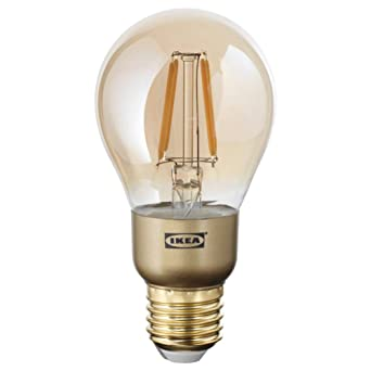 LUNNOM - Bombilla LED E26 (400 lúmenes, intensidad regulable), color marrón