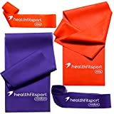 Natural Latex Resistance Bands Set- 2 in 1- Strength Bands/Loop Bands – Fit Your Body / Support Your Health Review