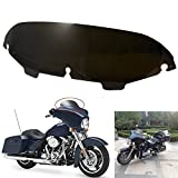 5'' Motorcycle Tinted Windshield Windscreen Wind Shield Screen For Harley Davidson Touring FLHT Street Electra Ultra Classic Glide 1996-2013(Smoke)
