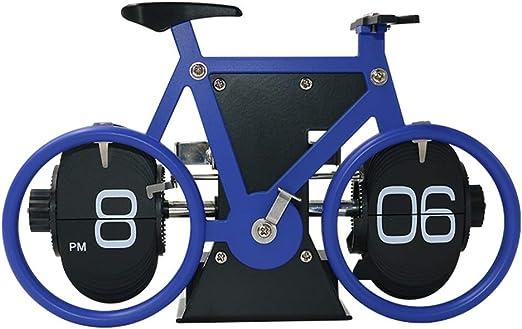 GYC . Escritorio Reloj Página Pasar Mesa Relojes para la Sala de Estar Decoración Estantería Dormitorio Moda Bicicleta Hogar Creativo con Pilas Cuarzo .3 (Color : D): Amazon.es: Hogar