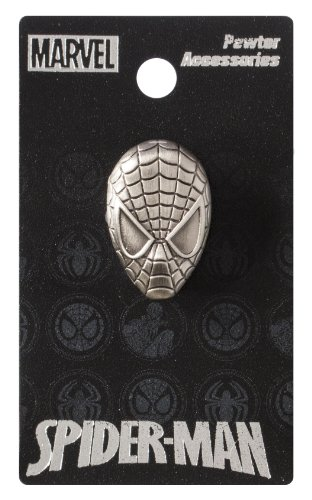 Marvel Spider-Man Head Pewter Lapel Pin