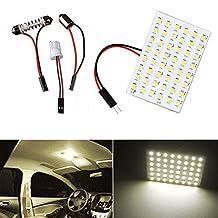 XT AUTO 10x Warm White T10 BA9S Festoon LED 48SMD Panel Interior Dome Map RV Trailer Light
